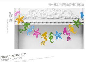 New Arrival Glitter Mermaid Sea Horse Shell Starfish Flag Shine Party Garlands Birthday Wedding Festival Party Decoration Garland