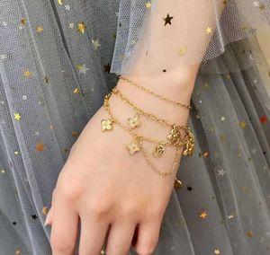 2020 bracelete de qualidade de luxo com cristais e design flor que floresce colar de presente de jóias PS5308 transporte livre