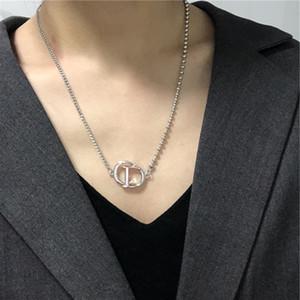 in kalten Art und Weise näht Kettenhalsband CD Halskette weibliche Persönlichkeit Halskette Temperament Brief