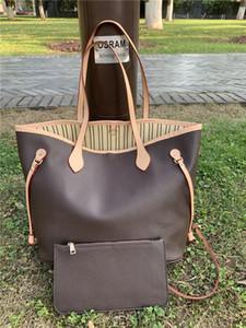 mulheres 2020new Lhandbags feminino Vmother 2pcs lei pacote de couro mãe saco de mão de embarque ombro saco pequeno com carteira M40157