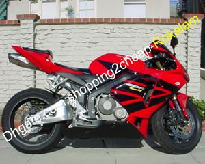 CBR600RR F5 Красный Черный кузовного комплект для Honda CBR 600 RR 05 06 CBR600 600RR КУЗОВНЫХ ABS обтекателя Kit 2005 2006 (литье под давлением)