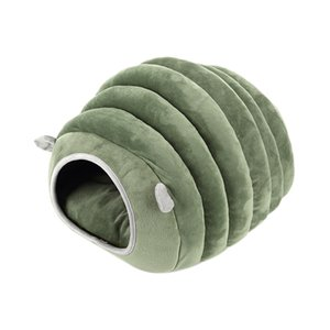 Hot Cute Pet Cat House Dog Bed Caterpillar Kennel Hamster Cotton Soft Bed Puppy Cave Warm Sleeping Bed Winter Closed Pet Nest Da