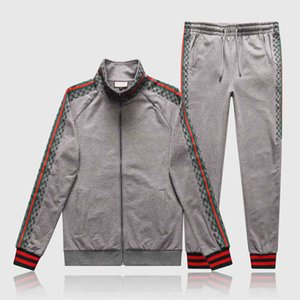 2020 New Style Tracksuits For Mens Sportswear With Letters Autumn Fashion Tracksuit Long Sleeve Casual Jogger Pants Suit Clothing
