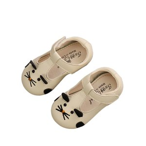 Baby Soft Bottom Casual Shoes Children Leather Shoes Girls T Shaped Moccosins Infant Toddler Cute Rat Princess 15-19
