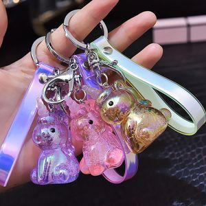 Süßigkeit-Farben-Schlüsselanhänger Frauen Kinder Netter Keychain Cartoon Schlüsselanhänger Paar Einhorn-Schlüsselring-Tages Gute Geschenke Mädchen Mode Freizeit New Accessory