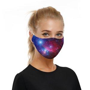 Партия 2 PM2.5 фильтры регулируемый эластичный ремень маски для лица мальчики девочки взрослые звездное небо Планета обширная Вселенная пыль открытый анти-Пэт пространство