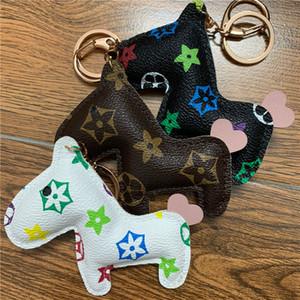 Neue Marken-Schlüsselanhänger Ring PU-Leder-Cartoon-Blumen-Muster-Pfer Mode Auto-Schlüsselketten-Halter Tier-Taschen-Charme Schmucksache-Zusatz
