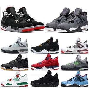 Economici New 4s Bred Quello che il 4 uomini di pallacanestro scarpe di cemento bianco Cool Grey Royalty Raptors Mens Sneaker Sneakers Sport