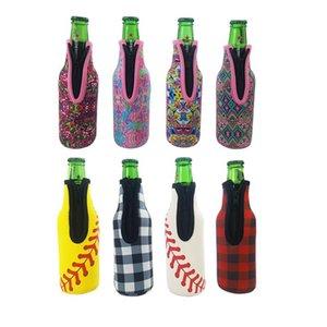Garrafa de manga Capa Neoprene Duplas saco isolado Beer Bottle Holder Com Zipper Mergulho cerveja abridor de garrafas DHL