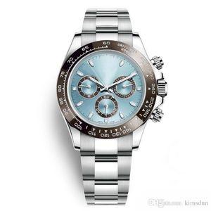 Orologi di lusso best-seller 116506 stile 40mm con zaffiro esterno in ceramica con anello automatico movimento in acciaio inossidabile 316L con cinturino aerospaziale cla