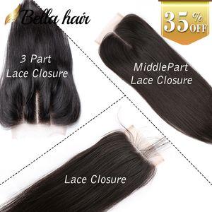 Nouveux Venu 1RAie Lace Chiusura Cheveux Tesages Queen Cheveux Prodotti Malaisien Brazilian Vierges Peruvian Vierges Cheveux Umbraina 4x4 Bella Capelli