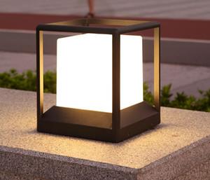 Outdoor Landscape lighting Lawn lamp garden Street E27 Waterproof LED Pillar Light aluminum bollard lights Courtyard AC220-240V LLFA