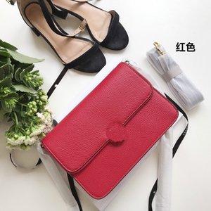 2020 Red-Einkaufstasche Schultertaschen aus echtem Leder Handtaschen arbeiten Umhängetasche weibliche Business-Laptop-Taschen