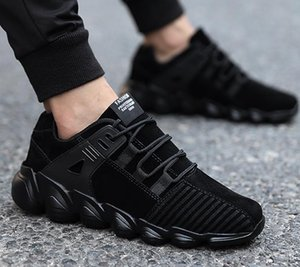 2018 Top Quality red balck Fly Breath Comfortable Sport Boost Size 5-11 Mens&Women Running Shoes For Sale Athletic Sneakers