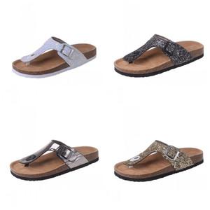 Lo nuevo verano bohemio lentejuelas Flip Flops PU Casual mujer zapatillas de playa al aire libre zapatos antideslizantes 26ld E1