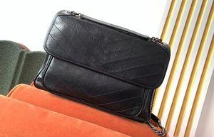 Calidad 498.883 32cm bolsa grande de la piel de becerro de cuero del hombro de la vendimia Niki 5A superior, con la bolsa para polvo, envío libre de DHL