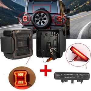 Новые светодиодные задние фонари для Jeep Wrangler JL 2018 2019 Задний обратный Taillights С JL третьего фонаря сигнала торможения Лампа