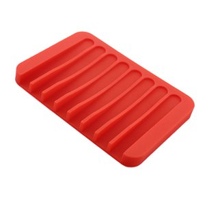Comb Drain Soap Dishes Holder Silicone Anti-slip Drain Rack for Kitchen Counter Top, Keep Bars Dry,Easy Cleaning