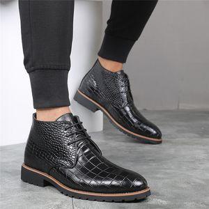 stivali di pelle uomini caviglia scarpe stivali da uomo Chukka uomini scarpe + maschio zapatos de hombre de vestir formale Botas hombre Cuero botines hombre