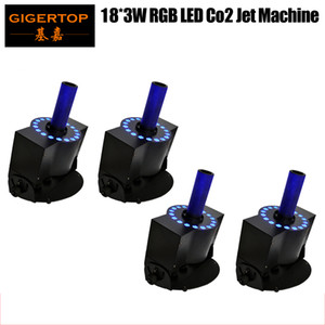 High Quality Hot Selling 4pcs lot 18x3W LED CO2 Jet Machine DMX Tricolor LED CO2 Jet Machine Led Stage co2 gas Effect Lights