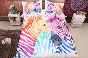 Coppia Zebra Stampato Bedding Suit Quilt Cover 3 Pics Duvet Cover assoluta qualità alta set di biancheria per la casa Materiali Tessili