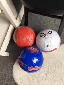 partido de los estudiantes Tamaño del juego PVC balón de fútbol de Nueva The Avengers Spider-Man Iron Man Capitán América de fútbol 5 niños