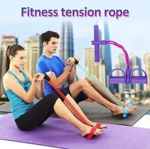 En stock ! Multi-función de las patas del extractor Pedales cuerda elástica Expander Yoga Fitness Workout Herramienta de formación cinturón de adelgazamiento para FY7009 cubierta
