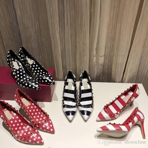 New designer fashion luxury high heels for women party wedding black nude red spikes Pointed Toes Pumps bottoms Dress shoe rx200