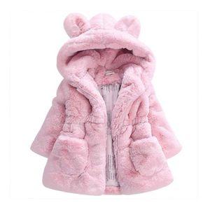Çocuklar Tasarımcı Kız Kürk Kış Kapşonlu Bebek Ceket Kalın Bebek Kız Ceketler Çocuk outwears Oyuncak Ayı Coats Isınma Isınma