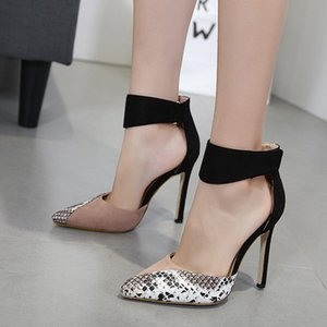 2020 Europe And America Spring And Summer New Style Sexy Stiletto Sandals Women &#039 ;S Super High Heels Foreign Trade Pointed Shoes