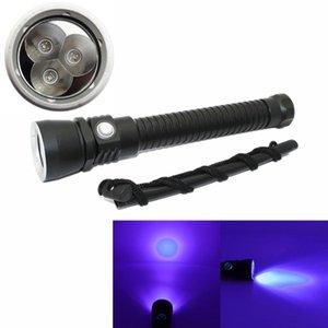 KC Fuoco Nuovo subacquea impermeabile 100M 3x Viola LED Lampada UV Scuba Diving Torcia Flashlight Aluminium Dive Luce