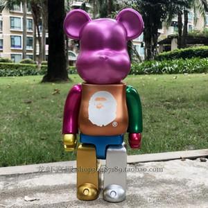 New 28cm 400% Presentes Bearbrick Action Figure Collectible Modelo Hot Toys Aniversários boneca frete grátis