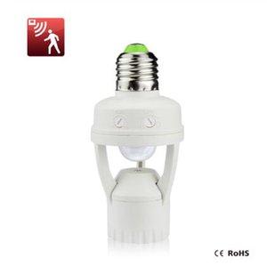 110V 220V PIR 유도 적외선 모션 센서 E27 LED 램프베이스 홀더 + 조명 제어 스위치 소켓 어댑터에 대한 3W - 60W 전구