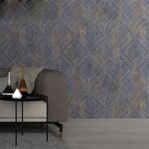 Flocking Cafe TV Vintage Geometry Bar Diamond Great Sofa Calidad Fondo en relieve Wallpaper Wallpaper Decor Store Tienda Hotel Glrqd 3D