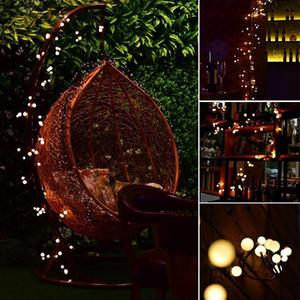 Lumières décoratives Intérieur Fée Extérieure LED Globe String Lights 72 Ampoules LED String Lights pour Terrasse Jardin Café Jardin De Noël Bistro