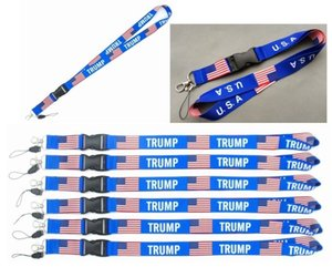 TRUMP U.S.A Removable Flag of the United States Key Chains Badge Pendant Party Gift moble phone lanyard car Key Chains