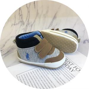 New Baby POLO Chaussures Printemps / Automne Nouveau-né Infant Toddler Garçons Filles Sandales Premier marchettes pour bébés Antiskid Chaussures 0-18Mos