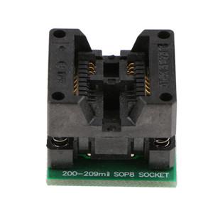 SOIC8 SOP8 için DIP8 Programcı Adaptörü IC Testi Soket Dönüştürücü Modülü Kurulu 208MIL Mavi Siyah