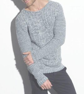 Sweater Solid Mens Solid Fashion Autumn Sweaters Hombres Designer