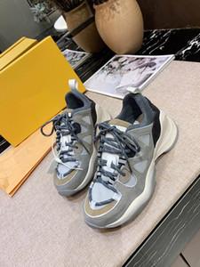 Louis Vuitton LV shoes Plataforma Sneakers 100% Suede couro real Levantado únicos treinadores de topo baixas sapatas do desenhista Casual planas rx19102104