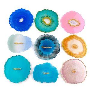 Agate moule en silicone résine époxy moule Big Plateau Coupe irrégulière Coaster bijoux bricolage Faire Moisissures YYA66