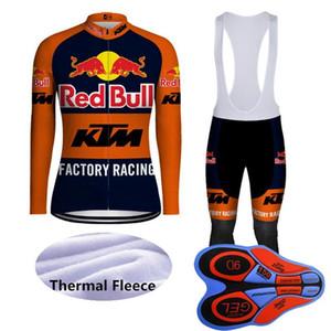 Новый KTM Team зима Велоспорт Джерси Установить Мужчины с длинным рукавом Тепловое руно дорога велосипед Нижнее MTB велосипедов Одежда спортивная форма Y101601