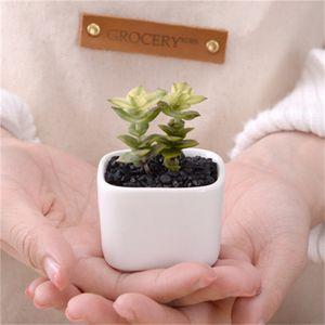 Simples branco Design Criativo Flowerpot Mini plantas suculentas Cerâmica Pot Início decoração de mesa Varanda Pots Vendido Bem 1 1zlH1