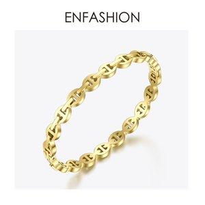 ENFASHION Punk Geometric Hohl Cuff Armband-Armbänder für Frauen-Goldfarben-Edelstahl-Armband-Art und Weise Schmuck Geschenke B192058