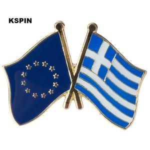 Unione europea Grecia Bandiera Spilla da baviera Bandiera Distintivo Spilla Distintivi Spilla XY0086