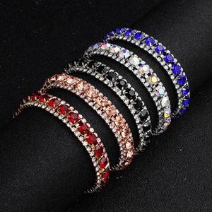 Braccialetti da sposa in oro rosa Dazzling Blue Strass Perline da sposa per la sposa I grandi braccialetti Gatsby Ragazze Accessori per feste economici