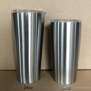 20 once Bicchiere con coperchio in acciaio inox bottiglia di acqua diritta Coppa di caffè della tazza per le automobili durevole Insulated Mug Outdoor