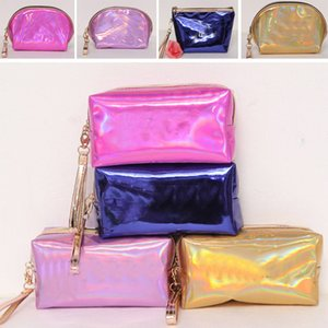 Letter Laser Cosmetic Bag Love Bling shell bags Large Capacity Storage Bags waterproof wash makeup bags portable coin purse HH7-1191