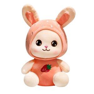 Creative Cartoon Soft Fruit Rabbit Plush Toy Doll Children's Cute Dolls Grab Doll Creative Comfortable Long Ears Fruit Rabbit Children's Gif