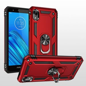 For Motorola Moto E6 Boost G7 play G7 Power Metropcs Rotating Ring bracket magnet car mobile phone shell stand cover back case